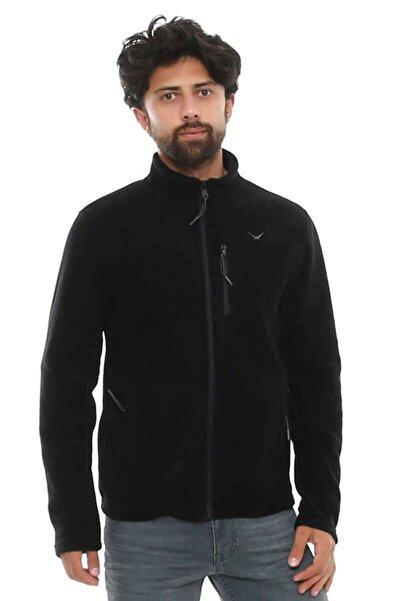 Cazador Caz 5015 Erkek Fermuarlı Polar Sweat Ceket Siyah