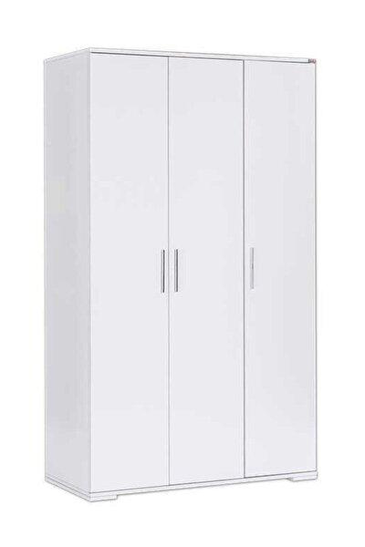 Adore Mobilya 3 Kapılı Gardırop Beyaz • 91x182x47 cm( Genişlik X Yükseklik X Derinlik )
