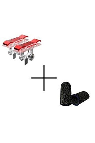 Kırmızı Tetik Ve Pubg Parmak Eldiven Seti