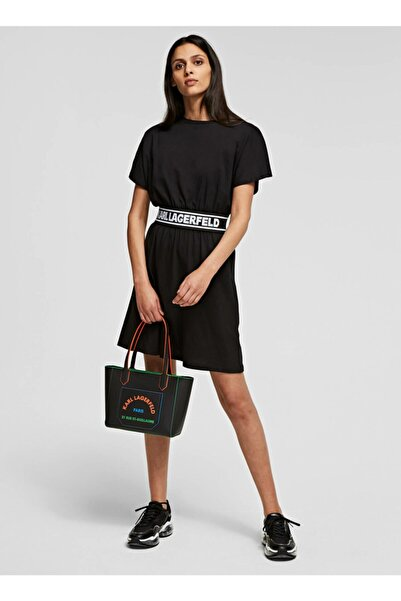 Karl Lagerfeld Siyah Elbise