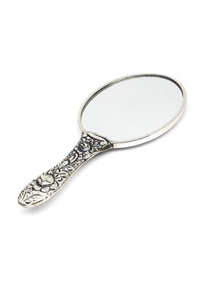 Altın Sepeti Saplı Minik Gümüş El Aynası