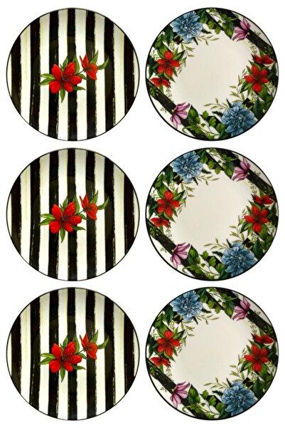 Hena Rodit Hena Rodıt Flora 6'lı Porselen Pasta Tabağı