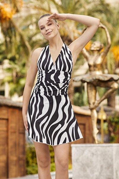 Adasea Etekli Elbise Mayo 3360