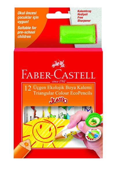 Faber Castell Jumbo Üçgen Ekolojik Boya K. 12r. Y.b