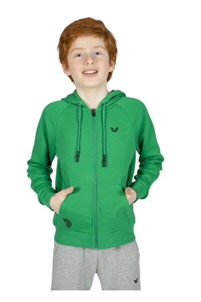 bilcee Yeşil Çocuk Unısex Kapüşonlu Eşofman Üstü