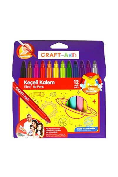 Craft and Arts Jumbo Keçeli Kalem 12 Renk