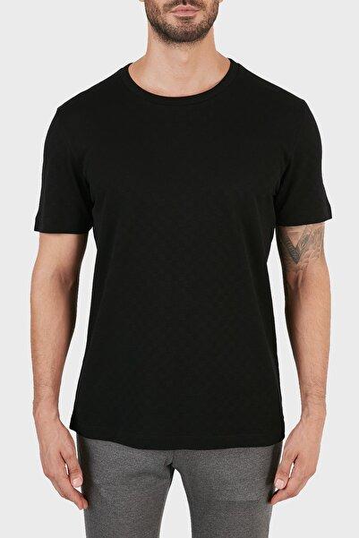 Hugo Boss Bisiklet Yaka % 100 Pamuk T Shirt Erkek T Shirt 50451121 001