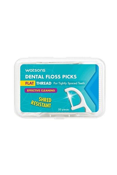 Watsons Flat Thread Dental Floss Picks 50 Adet