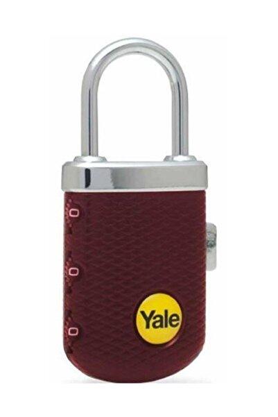 Yale Zarif Tip Şifreli Asma Kilit Bordo