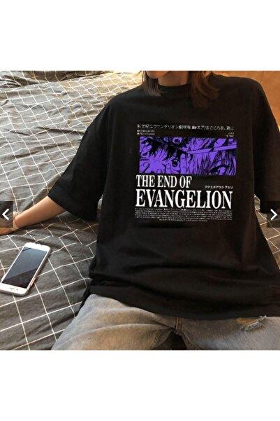 Köstebek Ars The End Of Evangelion Siyah Unisex T-shirt