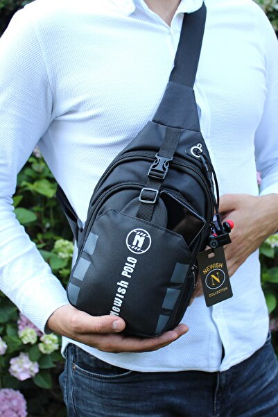 Av A Dos Unisex Kumaş Kulaklık Çıkışlı Bel Ve Çapraz Askılı Çanta Göğüs Seyahet Günlük Bodybag