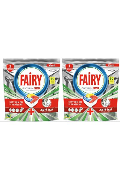 Fairy Platinum Plus Bulaşık Makinesi Deterjanı Tablet 60 Lı X 2 Adet