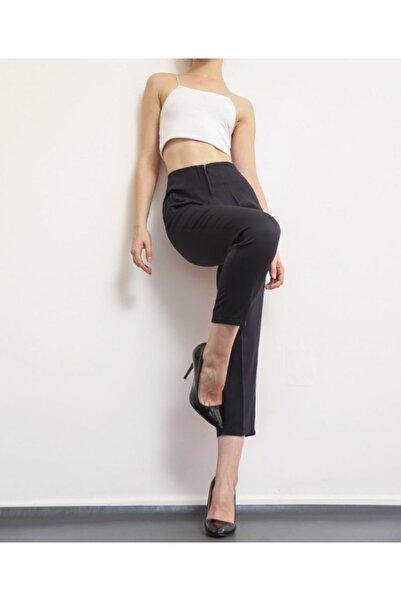 Vitalite Siyah Yüksek Bel Ince Pensli Pantolon