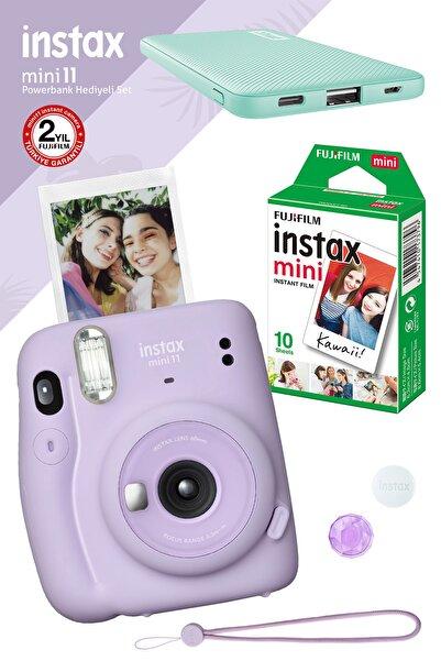 Instaflex Instax Mini 11 Lila Fotoğraf Makinesi 10'lu Film Teal Powerbank