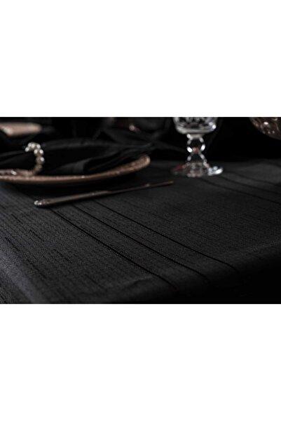 Cardea Colber Siyah Masa Örtüsü Takımı 12 Kişilik 26 Parça