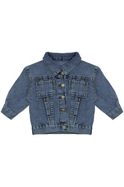Kids Of Heart Gri Ayılı Açık Mavi Kot Ceket