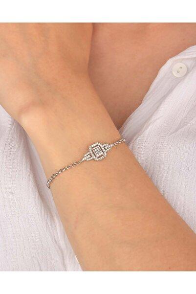 Else Silver 925 Ayar Gümüş Doç Zincirli Baget Bileklik