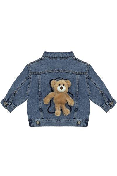 Kids Of Heart Kahverengi Ayılı Açık Mavi Kot Ceket