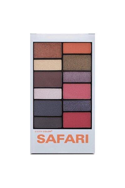 city color Safari Far Paleti 12'li