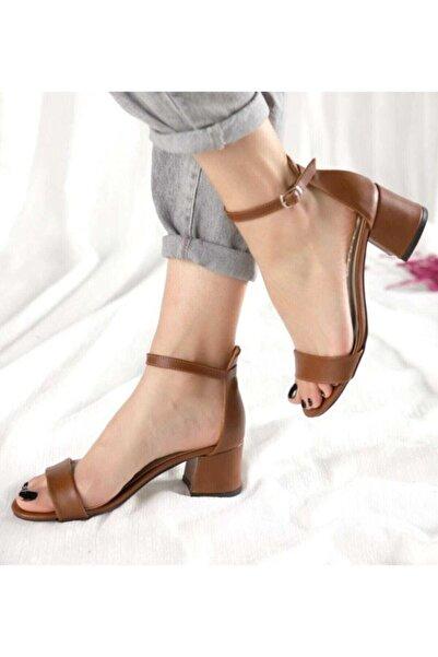 CERCİBAZAAR Kadın Tek Bant Topuklu Ayakkabı