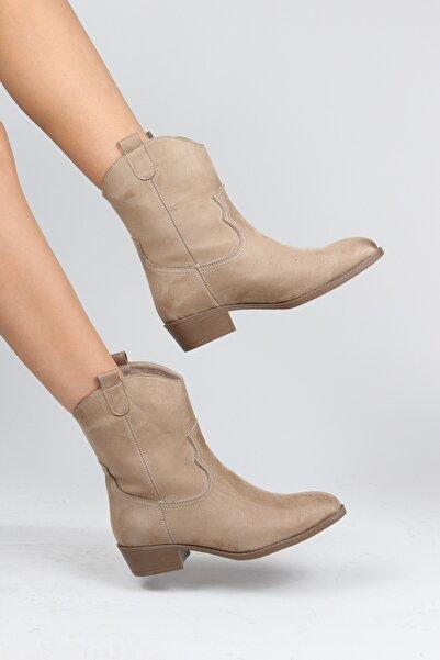 ayakPARK Western Kovboy Rahat Günlük 3 Cm Topuklu Kadın Bot
