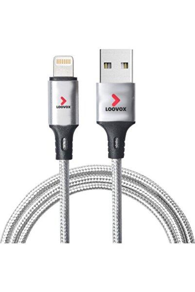 LOOVOX Iphone 7 8 Plus X 11 12 Pro Uyumlu Lightning Şarj Aleti Cihazı Kablosu Örgü Hızlı Şarz Kablo