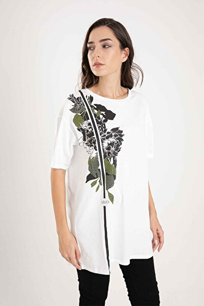 Liu Jo Rahat Kesim Desenli T-shirt