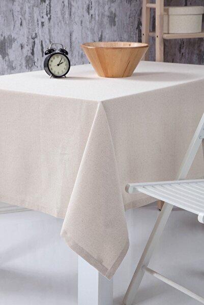 Wellstil Düz Keten Otantik Masa Örtüsü 160x220 cm
