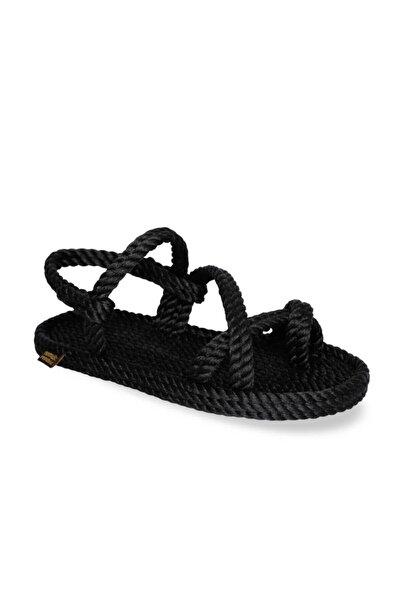 Nomadic Republic Capri Kadın Halat Sandalet - Siyah