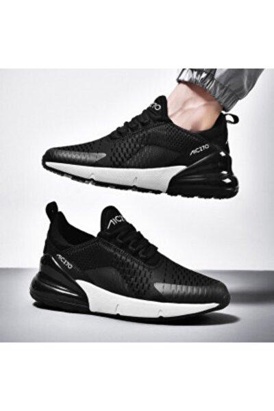 MAC MERO Unisex Günlük Yürüyüş Sneaker Siyah - Beyaz Air File Spor Ayakkabı
