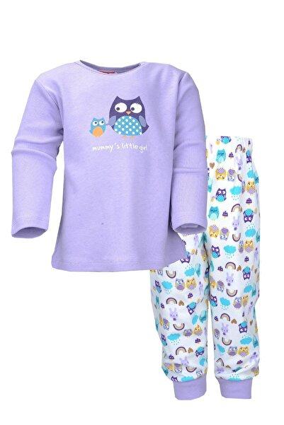 moto angela Kız Bebek Pijama Takımı Mama Elephant Pamuklu Penye