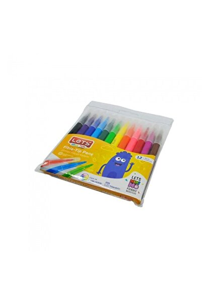 Lets Jumbo Keçeli Boya Kalemi 12 Renk