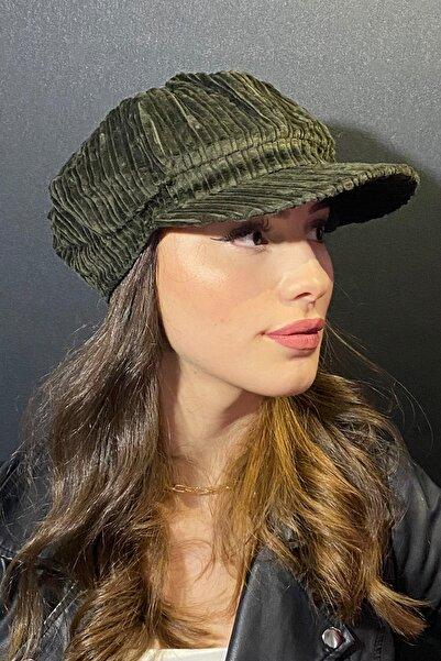 Bay Şapkacı Kadın Denizci Tipi Kadife Şapka