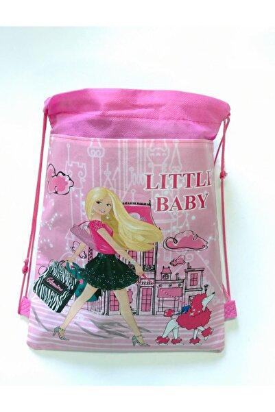 KorseShop Little Baby Çocuk Spor Anaokul Okul Market Çantası Bez Çanta 36x28 Cm