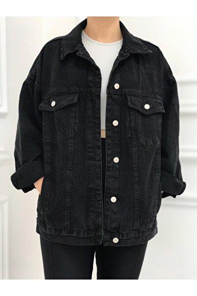Dilvin Oversize Siyah Kot Ceket