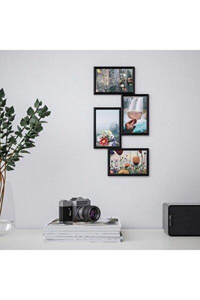 IKEA Yllevad Siyah 21x41 Cm 4 Resimlik Kolaj Çerçeve Dekoratif