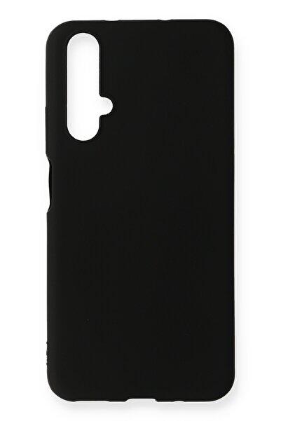 Huawei Asil Nova 5t Kılıf Renkli Soft Ve Pürüzsüz Premier Lüks Silikon Kapak - Siyah