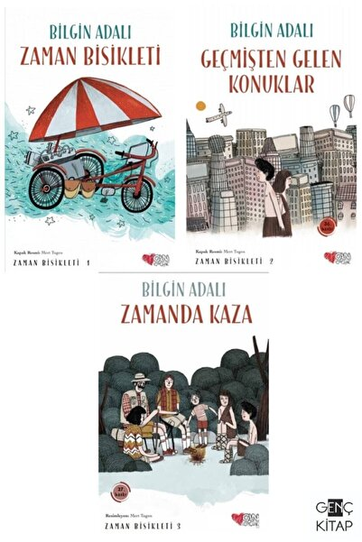 Can Çocuk Yayınları Zaman Bisikleti 3 Kitap Set