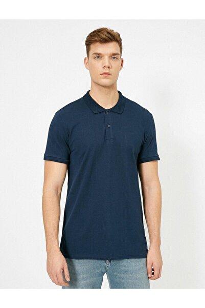 Koton Erkek Lacivert Polo Yaka T-Shirt 0YAM12133LK