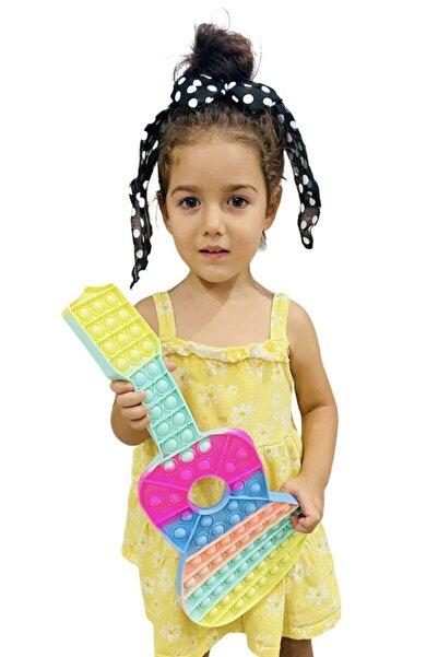 Toys Pop It Dev Gitar Bubble Push Pastel Renk Zihinsel Stres Oyuncağı Mega 41 Cm Dev Gitar Popit