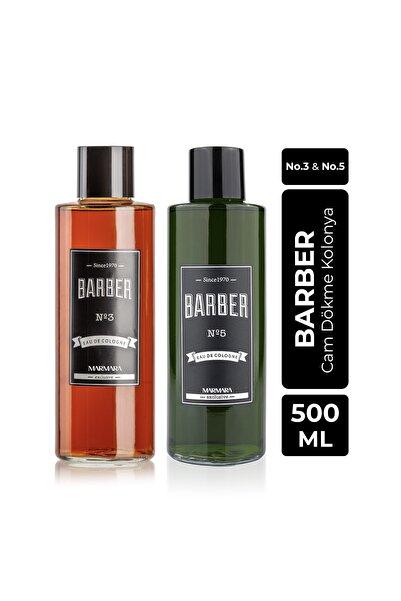 Barber Cam Kolonya Seti 2x500 Ml No.3 Ve No.5