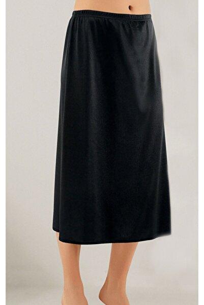 Lorelm Jüpon Tam Boy Uzun Etek Astarı Siyah Renk Jipon