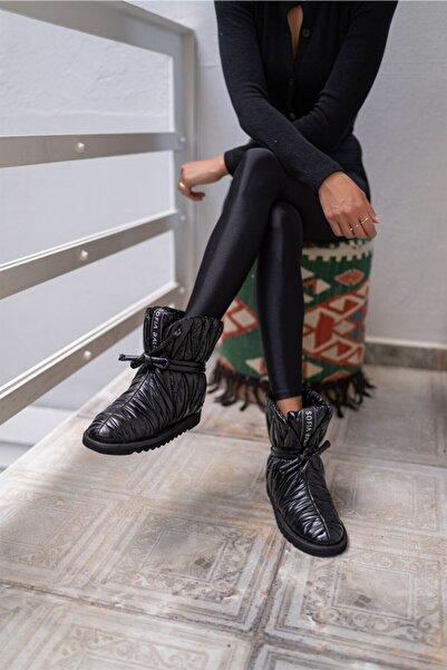Sofia Baldi Lınno P Siyah Kumaş Kadın Düz Bot