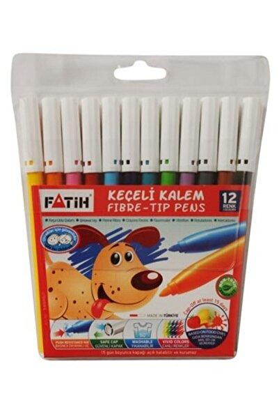 Fatih Keçeli Boya Kalemi 12 Renk Kampanyalı