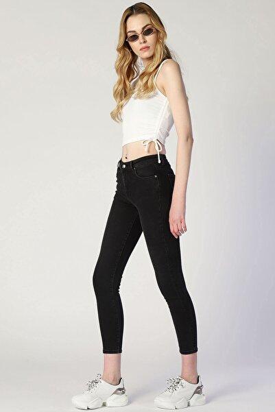 Twister Jeans Kadın Slim Fit Yüksek Bel Pantolon Mindy 9324-02 Bb Antrasıt