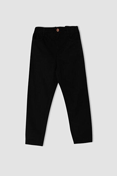 DeFacto Kız Çocuk Slouchy Fit Paperbag Bel Fit Jean Pantolon