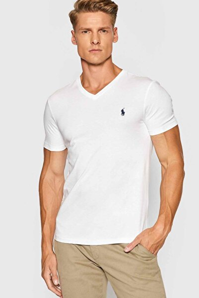 Polo Ralph Lauren Custom Slim Fit V Yaka T-shirt