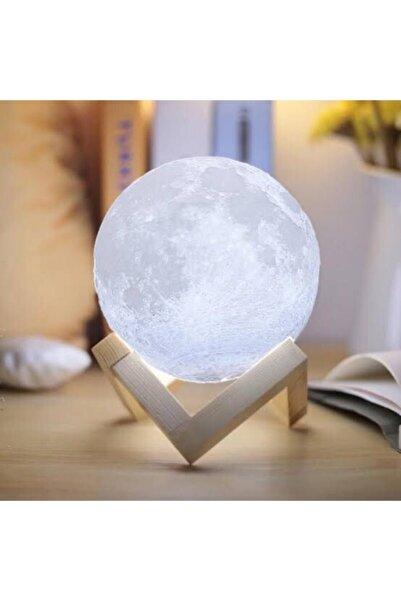 Techmarketi Bluetooth Hoparlör Ay Küre Kumandalı 3d Dolunay Gece Lambası 16 Renk Usb Şarjlı