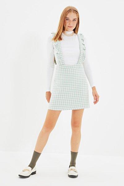 TRENDYOLMİLLA Mint Fırfırlı Jile Elbise TWOAW20EL0292