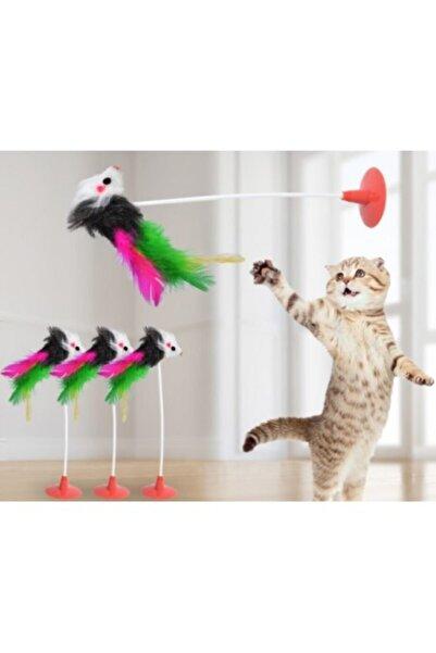 TİNEKE Vantuzlu Fare Kedi Oyuncağı Yeni Model ( 1 Adet )